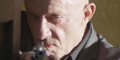 Jonathan Banks with gun, screenshot from bullet movie